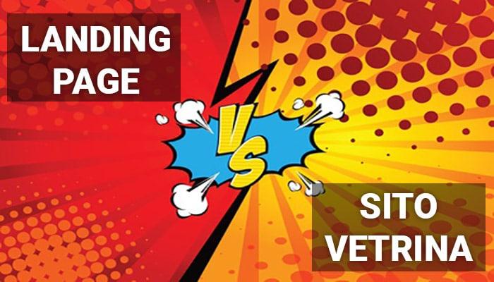 landing page vs sito vetrina