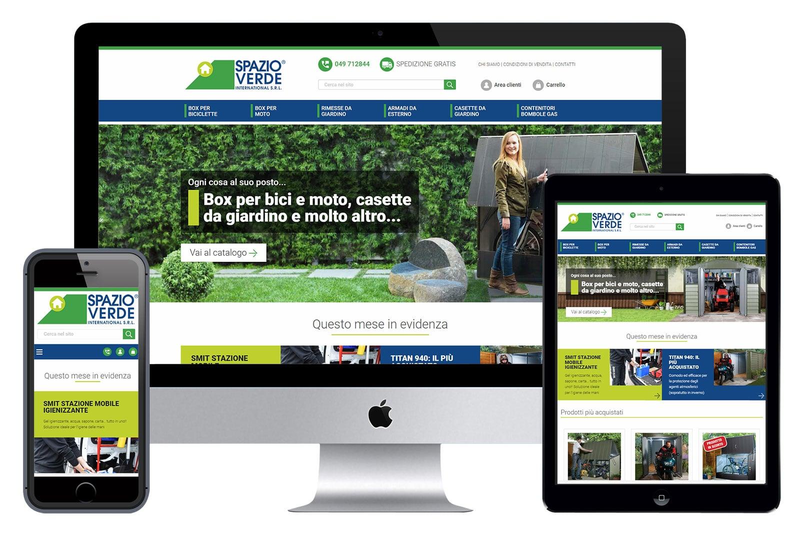 realizzazione ecommerce wordpress spazio verde