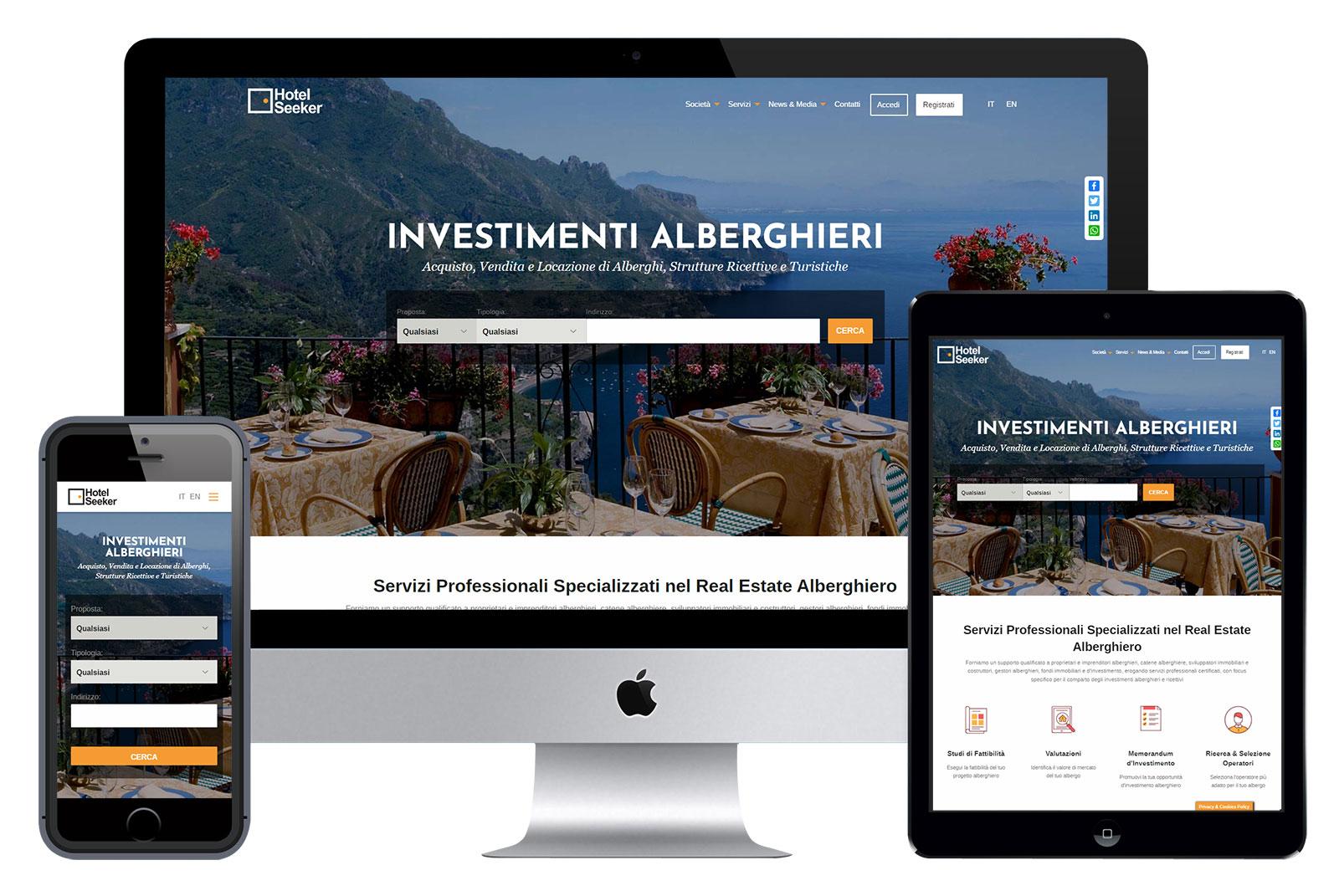 realizzazione sito real estate